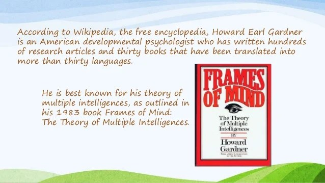 Frames Of Mind The Theory Multiple Intelligences 1983 | Frameswalls.org