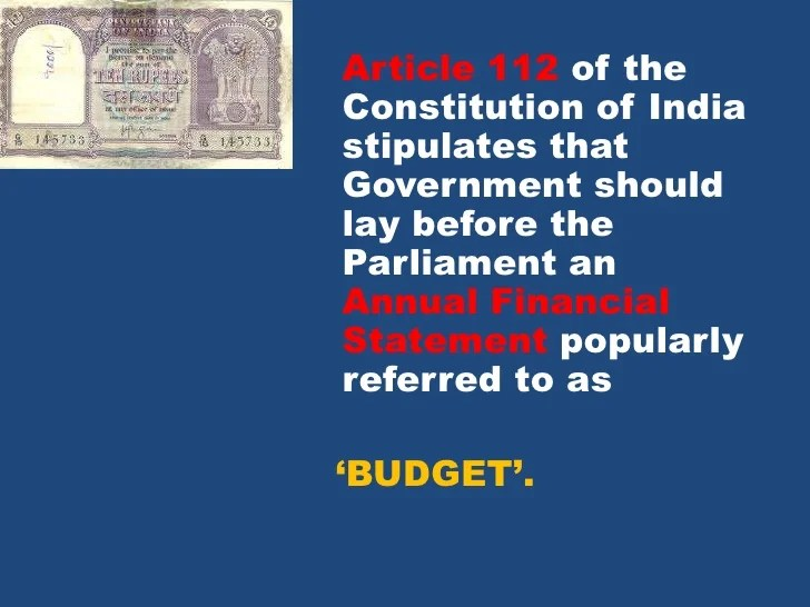 Image result for Budget-india constitution