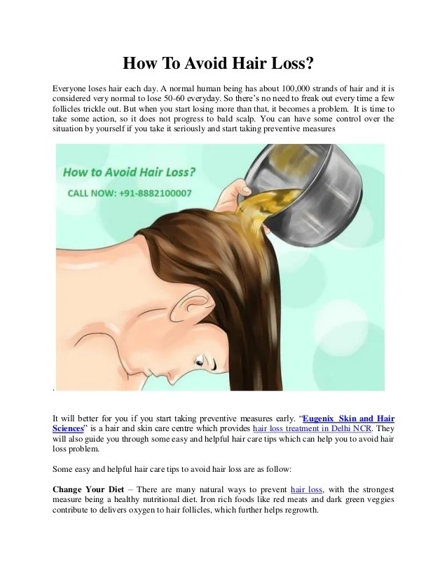 How to prevent hair fall for men