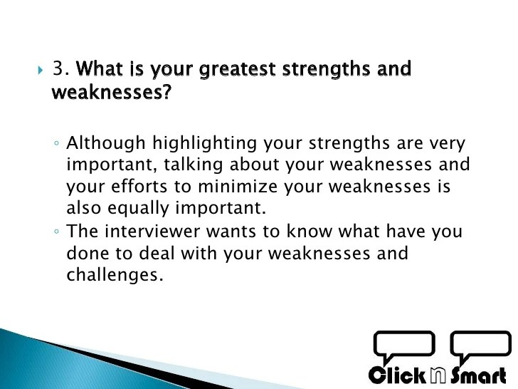 strengths and weaknesses interview yeni mescale co
