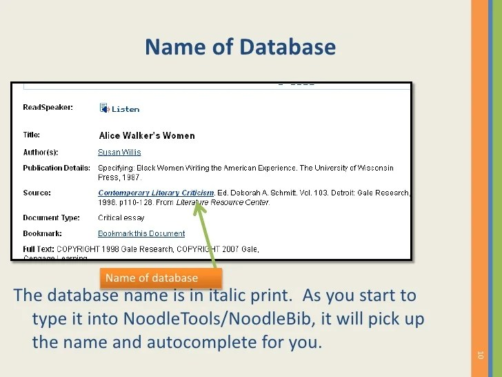 How To Cite a Reference Source from the GALE Literature ...