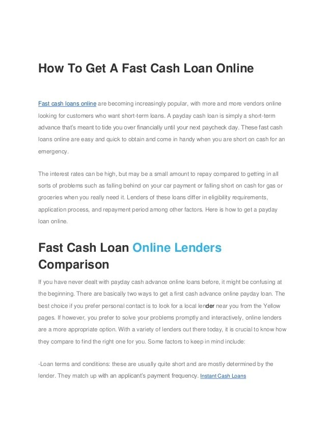fast cash financial products for people with poor credit