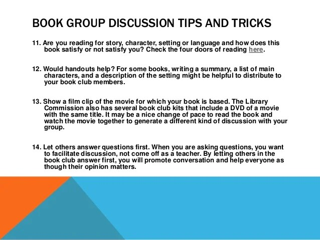 NCompass Live: How to Lead a Book Group With No Discussion ...