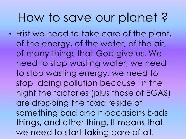 Save environment essay