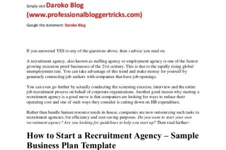 Recruitment Business Plan Template Free Strategic Recruiting Plan