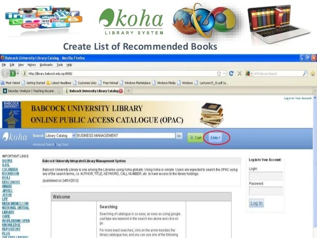 How to, Access and Use the Babcock University, Laz Otti ...