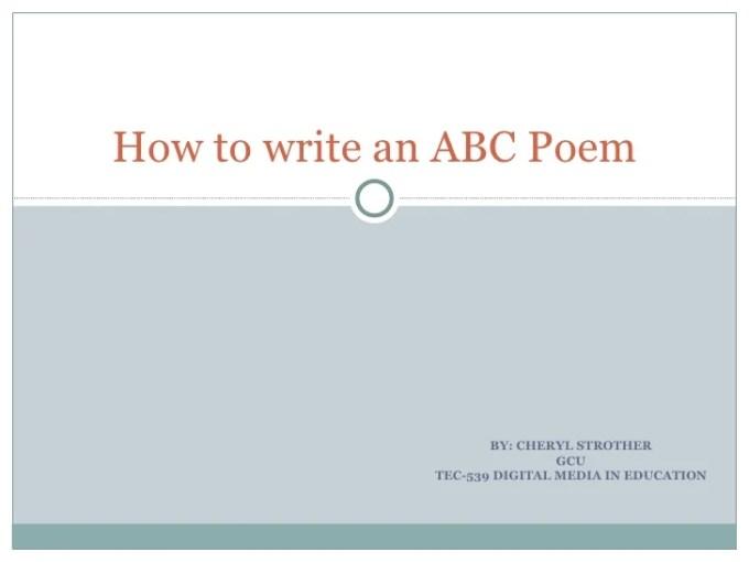 Abc Acrostic Poem Examples Textpoems