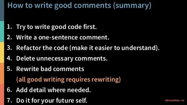 how to write a comment # 23