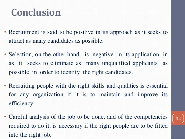 Recruitment Amp Selection