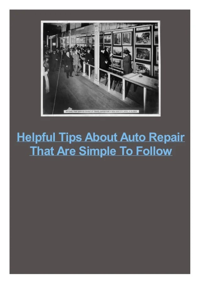 Helpful Tips About Auto Repair That Are Simple To Follow