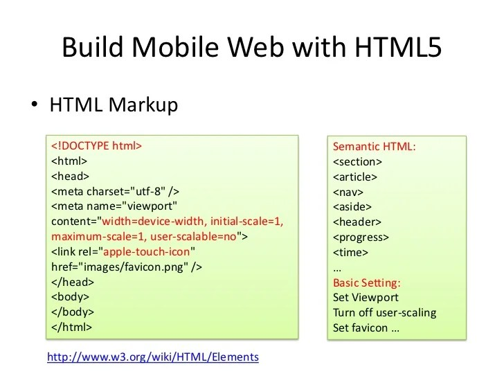 Html5 On MobileFor Developer