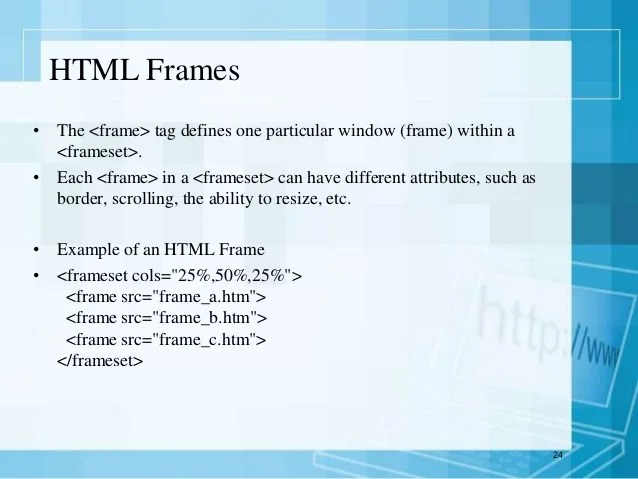 frame tag in html example | Allframes5.org
