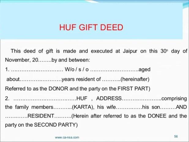 sample deed of gift | Giftsite.co