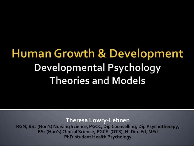 Human Growth & Development: Developmental Psychology. By ...