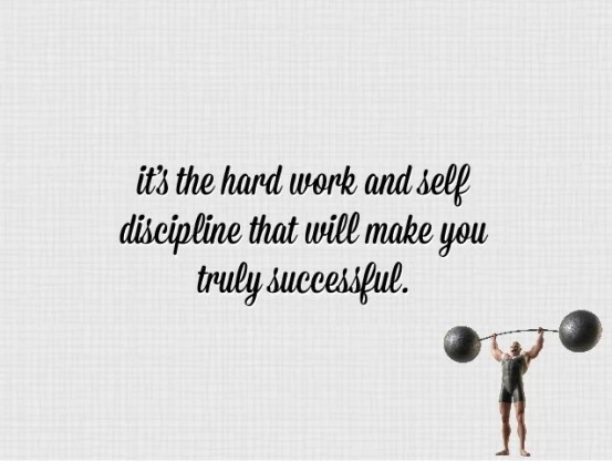 Image result for discipline hard work