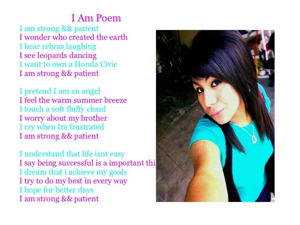 I Am Poem I Am