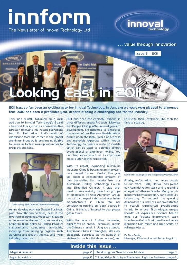 Innoval Technology Newsletter 2011