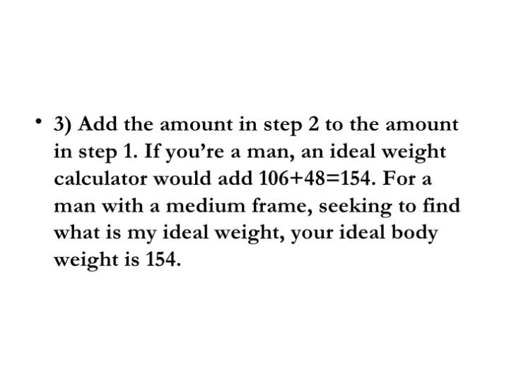 Ideal Weight Calculator Medium Frame | Framess.co