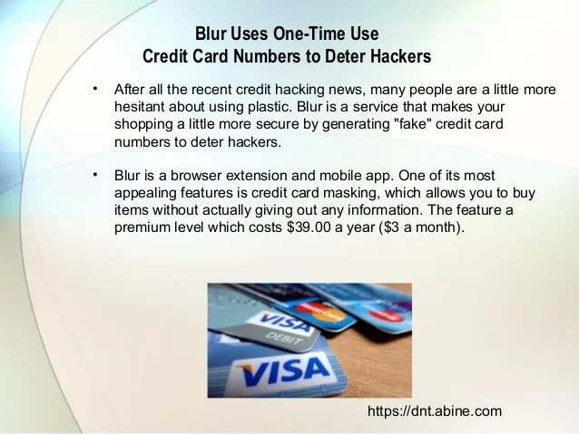 how to create a fake credit card number
