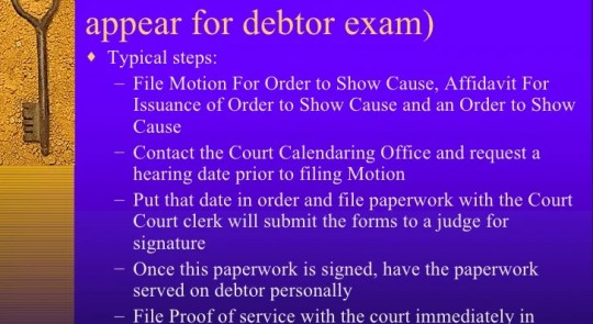 How to Do a Judgment Debtor Exam in Texas