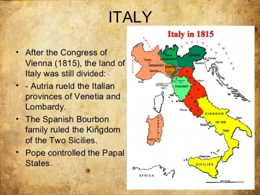 Nationalism State Building In Italy Part I Self Study History