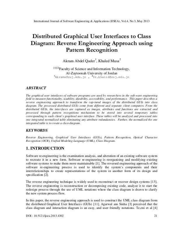 Distributed Graphical User Interfaces to Class Diagram