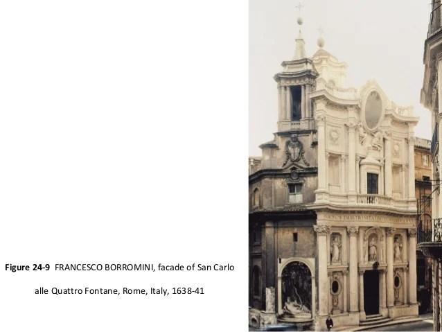 1638 Facade 41 Alle San Borromini Quattro Carlo Fontane