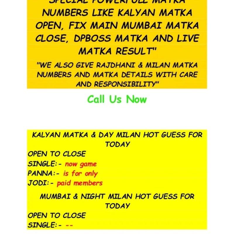 KALYAN LIVE SATTA MARKET INDIAN SATTA KING MATKA