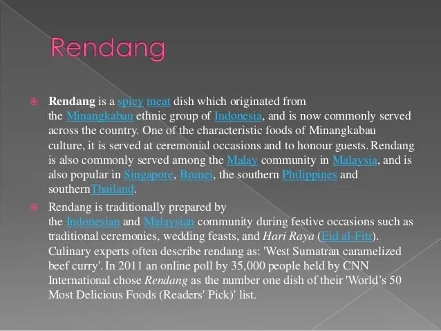 Indonesian Cuisine Rendang