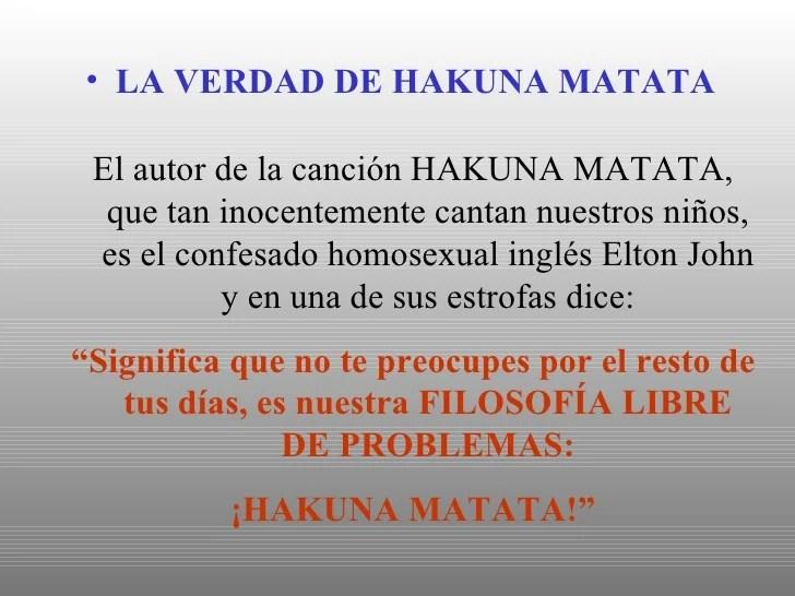 Hakuna Matata En Espanol