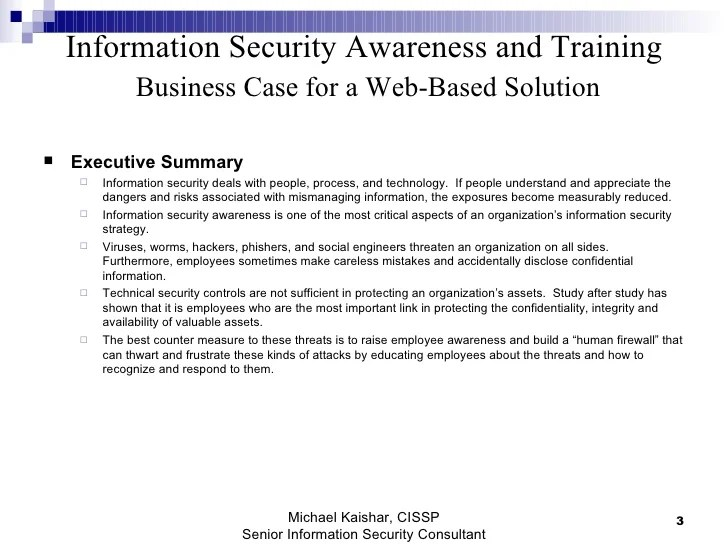 Policy Information Executive Security Summary