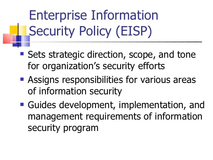 Enterprise Information Security Policy Examples