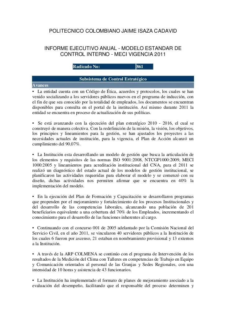 Informe Ejecutivo Controlinterno2011