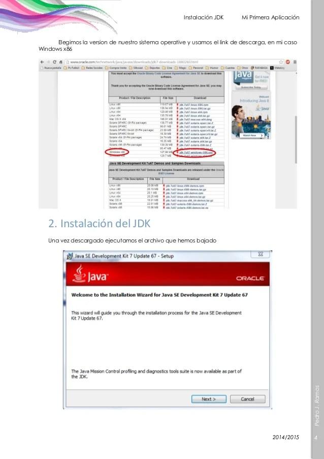 Instalacion JDK Mi primera aplicación en Java
