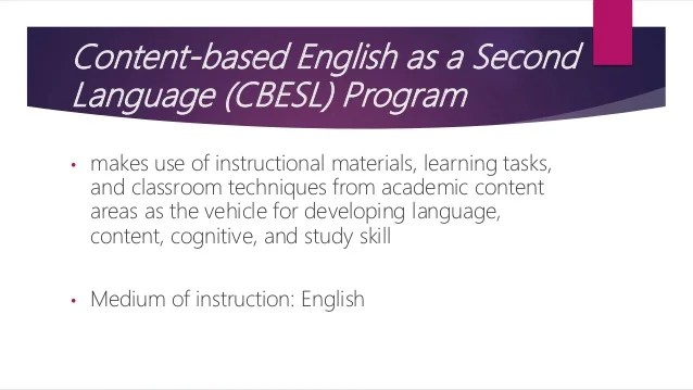 Instructional Programs for English Language Learners (ELL)