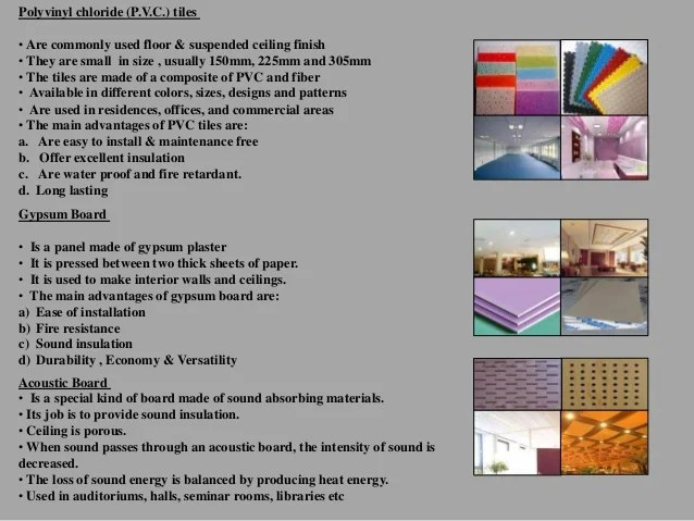 False ceiling types ppt for Interior design and decoration 6th edition pdf