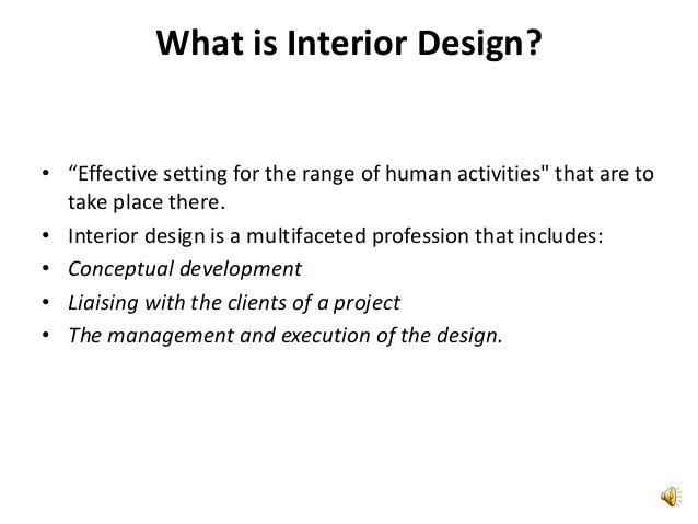 What Is Interior Design. Introduction To Interior Design