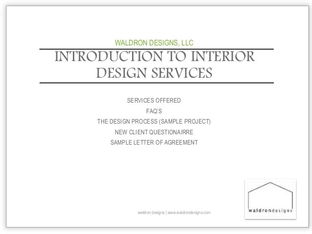 Interior Design Introductory Letter For Prospective