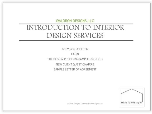 Interior Design Introduction Letter Sample