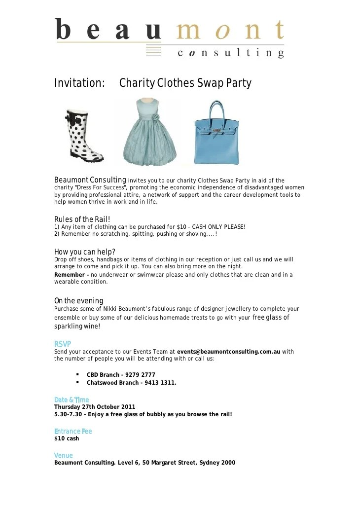clothes swap party invitation | Invitationjdi.co