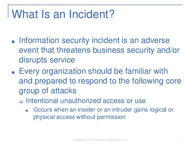 What Security Incident