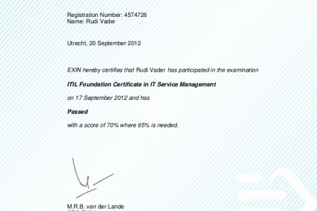 Free Certificate Templates » itil foundation certification ...