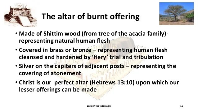 Bronze Altar Burnt Offerings