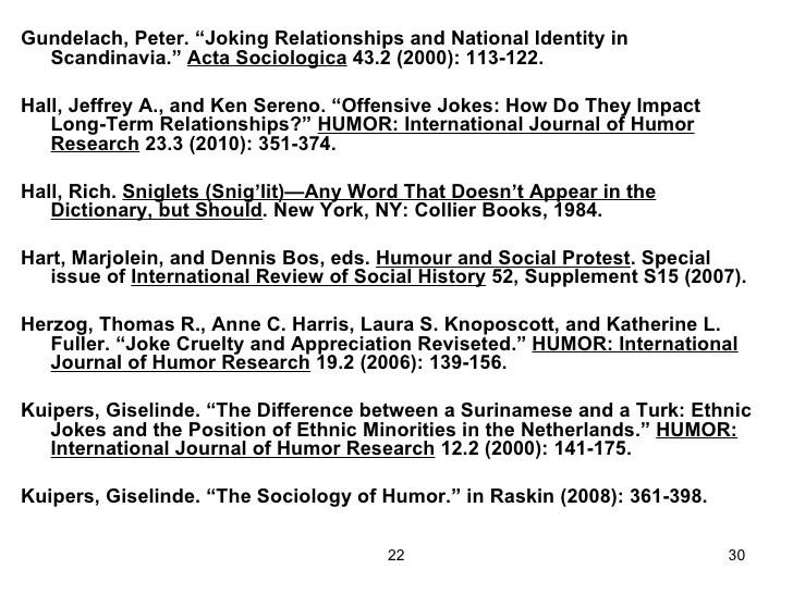 Humor International Journal Humor Research