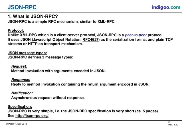 JSON-RPC - JSON Remote Procedure Call