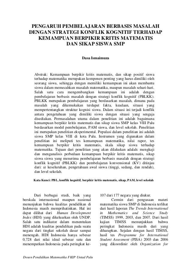 Contoh Artikel Pendidikan Matematika Smp Contoh L Download Gambar