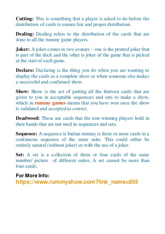 Gin Rummy Card Game Instructions Letterjdi