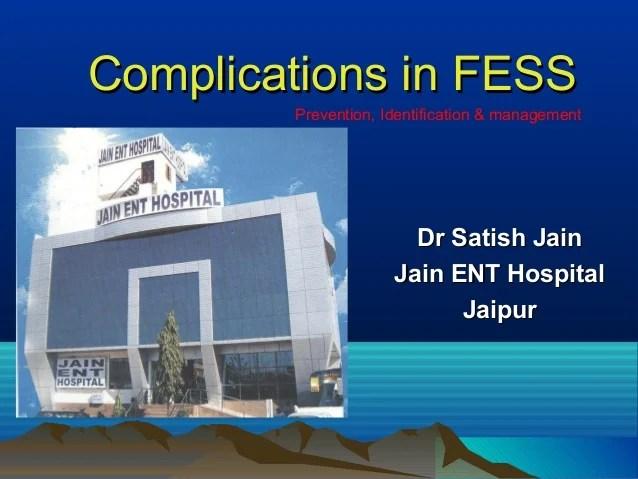 Fess Surgery Complications