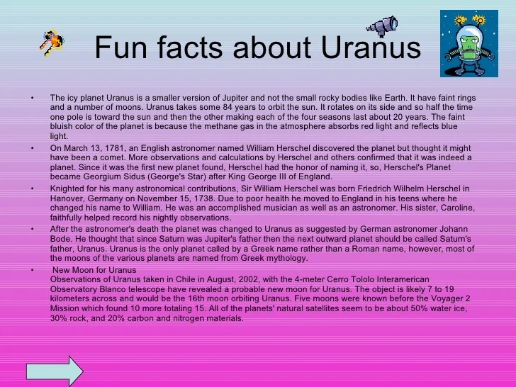 facts about the planet uranus