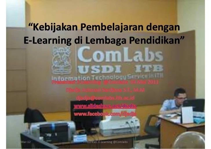Kebijakan Pembelajaran Dengan e-Learning di Lembaga Pendidikan